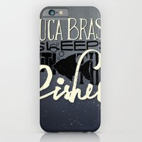 iPhone & iPod Case featuring Luca Brasi Sleeps With The Fishes. by Chá de Polpa