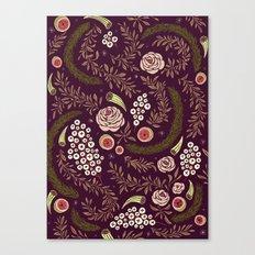 Autumn's Dusk Floral Canvas Print