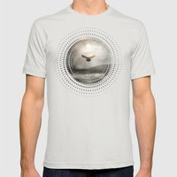 Sunset I C. V Mens Fitted Tee Silver SMALL