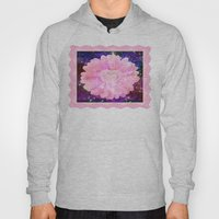 Pink flower with sparkles  Hoody