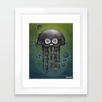 Jelly Swamp Print by NREAZON Framed Art Print