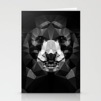 Bear - Black Geo Animal Series Stationery Cards