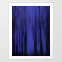 Nightblue Woods Art Print