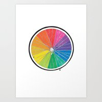 Color Wheel (Society6 Ed… Art Print