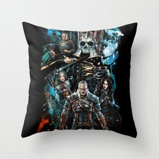 The Witcher Wild Hunt Throw Pillow