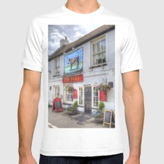 The Bull Pub Theydon Bois Mens Fitted Tee White SMALL