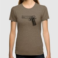 GUN Womens Fitted Tee Tri-Coffee SMALL