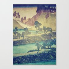 A Valley in the Evening Canvas Print