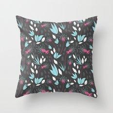 Nighttime Dandelions Throw Pillow