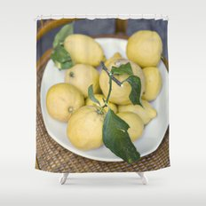 when life hands you lemons::cinque terre, italy Shower Curtain