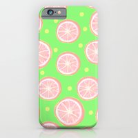 Pink Grapefruit And Dots… iPhone 6 Slim Case