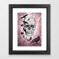 The Crows Of Death Framed Art Print