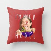 I'm Not A (stock) Model Throw Pillow