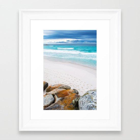 Bay of Fires, Tasmania Framed Art Print