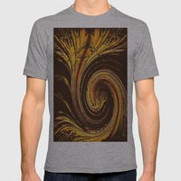 Golden Filigree Germinat… Mens Fitted Tee Athletic Grey SMALL