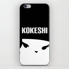 Kokeshi Logo Square Design MORE BLACK iPhone & iPod Skin