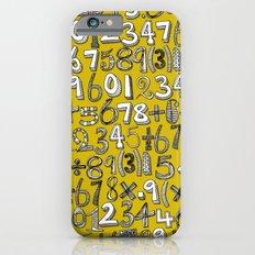 math doodle yellow Slim Case iPhone 6s