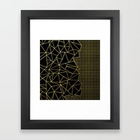 Abstract Outline Grid Gold Framed Art Print