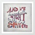 Best Song Ever Art Print