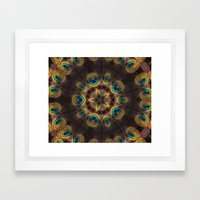 The Eye of the Peacock Framed Art Print