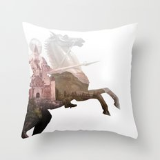 Defend the Castle Throw Pillow