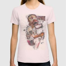 Knock Out Womens Fitted Tee Light Pink SMALL