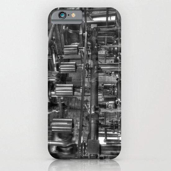 Steam valves in black and white iPhone & iPod Case