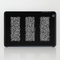 tri black iPad Case