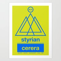 Styrian Cerera Single Ho… Art Print