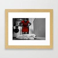 Towel Folding Framed Art Print