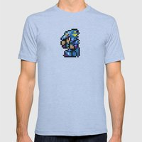 Final Fantasy II - Kain Mens Fitted Tee Athletic Blue SMALL