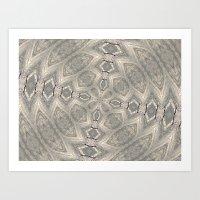 Beachy Tan Kaleidoscope Art Print
