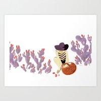 Foraging Desert Art Print