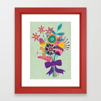 Bunch Of Flowers Framed Art Print