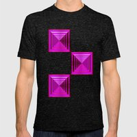 Purple Abyss Mens Fitted Tee Tri-Black SMALL