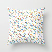 squares salad Throw Pillow