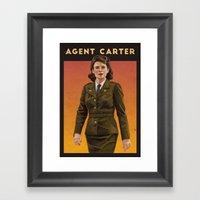 Agent Carter WWII Poster Framed Art Print