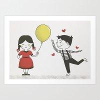 Childish Love Art Print