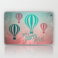 Oh, the Places You'll Go - Coral & Teal Laptop & iPad Skin