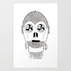 Celtic C3Po Art Print