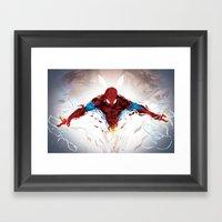 Torn Suit  Framed Art Print