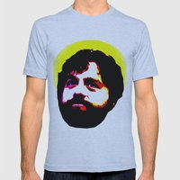 Zach Galifianakis Died F… Mens Fitted Tee Athletic Blue SMALL
