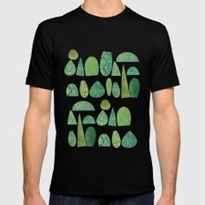 Watercolour Topiary SMALL Mens Fitted Tee Black