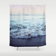 Shower Curtain featuring Crash Into Me by Leah Flores