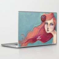 Laptop & iPad Skin featuring Beautiful Faces By Jane … by Jane Davenport