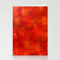 Orange Flames Stationery Cards