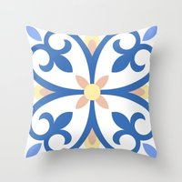 Floor Tile 8 Throw Pillow