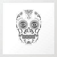 Typographic Sugar Skull Art Print