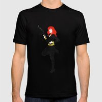 Black Widow Mens Fitted Tee Black SMALL