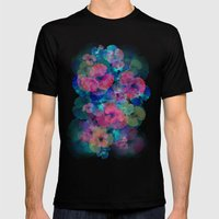 Midnight Bloom Mens Fitted Tee Black SMALL
